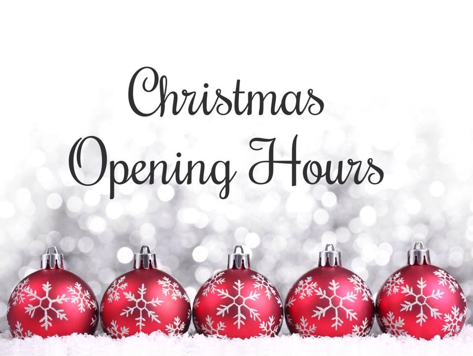 Christmas hours and Black Friday deals