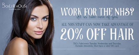 Boilerhouse Hair NHS 20% Off Offer