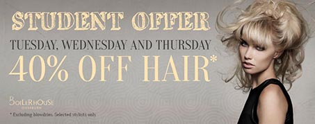 Boilerhouse Hair Student 40% Off Offer